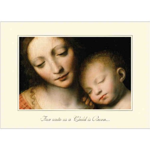 Birchcraft Studios 7020 The Sleep of The Infant Jesus - Gold Lined Envelope with Ecru Lining - Gold Ink - Pack of 25