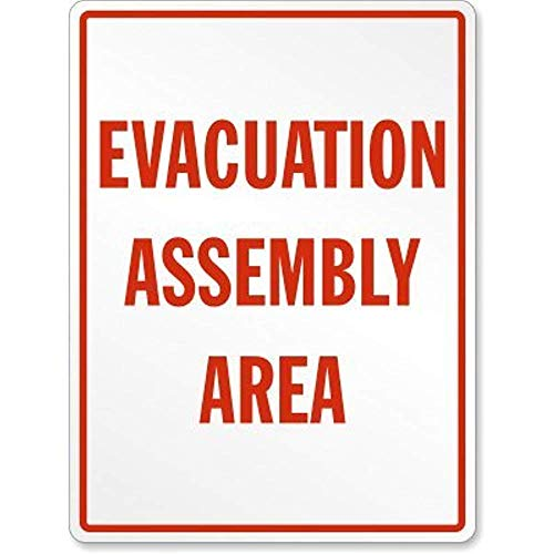 Evacuation Assembly Area, Heavy-Duty Aluminum Sign, 18