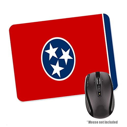Tennessee State Flag Rubber Base Mouse Pad