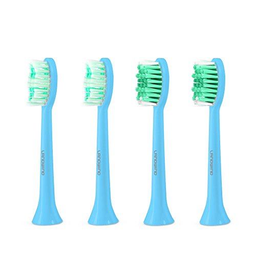 Electric Toothbrush Replacement, 4 Pack Heads of Electrical Toothbrush Fit Landwind Sonic Electric Toothbrush 2 Pro+ 2 Comfy Electric Toothbrush Head - Blue