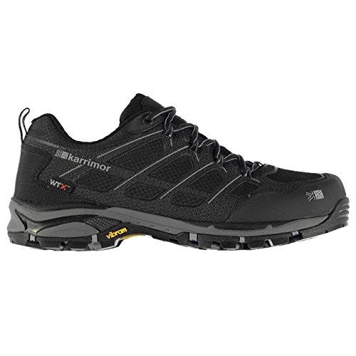 Karrimor Mens Sprint Low Shoes Outdoor Walking Trekking Escursionismo Lace Up Vibram Nero