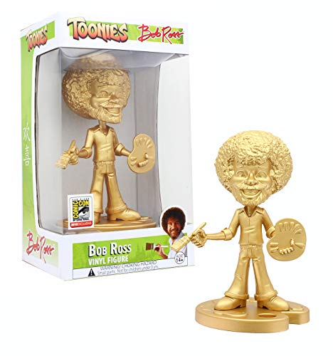 BobRoss Toonies Vinyl Figure | Gold Variant | SDCC18 Exclusive Collectible | Pop Culture Memorabilia Perfect Birthdays, Graduation, Holidays