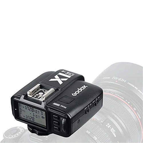 Godox X1C-T 2.4GHz WIreless Hot Shoe Flash Trigger Transmitter for Canon DSLR 440D/500D Set/600D Set/700D Set/60D/6D/70D/7D/760D/1D Set/5D/5D II/5D II/5D III Set ,with 1/8000s HSS TTL 32 Channels by Godox
