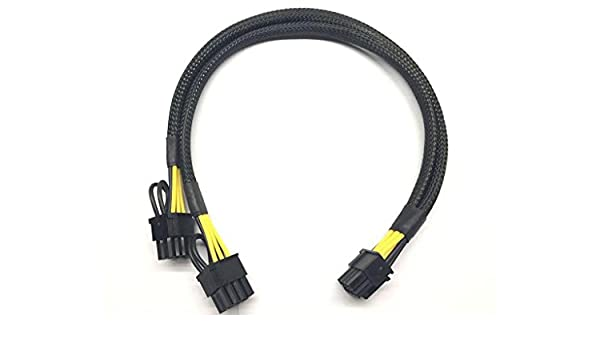 8pin to 8+6pin Power Cable for DELL Precision R5500 and GPU Video card 35cm