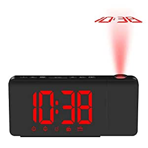 Despertador Proyector Pilas Reloj Digital Reloj De Alarma Con ...