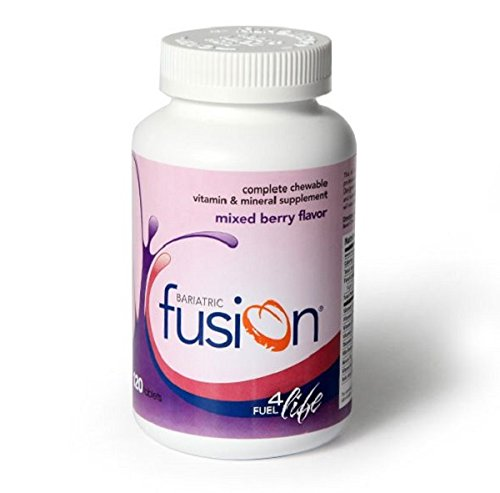 Chewable Vitamin Supplement - Bariatric Fusion: Complete Chewable Vitamin and Mineral Supplement Mixed Berry Flavor Tablets, 120 Tablets