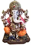 "RK Collections 6.25"" Lord Ganesh Statue/Ganesha Statue in Multicolor Antique Finish"