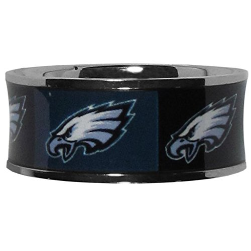 - NFL Philadelphia Eagles Steel Inlaid Ring Size 10
