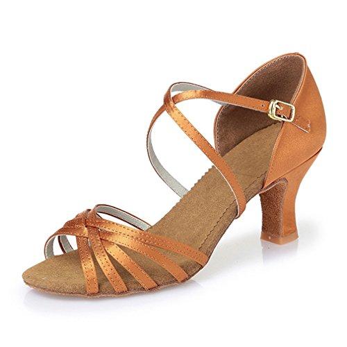 Danse Modern'Jazz Latine de Danse BYLE Chaussures de Danse de Haut Chaussures en Les Chaussures Sangle Cuir Samba Soft 39 adultes Sandales Latine Talon Comme Bas Femmes cheville de a8wz6
