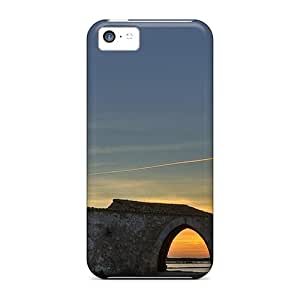 New Snap-on Claires Skin Case Cover Compatible With Iphone 5c- Windmill In Paceco Sicily Italy
