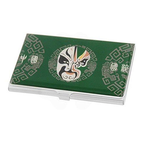 ucland中国オペラマスクパターン名カードボックスケースホルダー、グリーン   B079HHLXNY