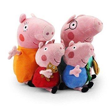 Top Peppa Pig Plush Family Set 4pcs 30 Cm Papa Mama And 19 Cm