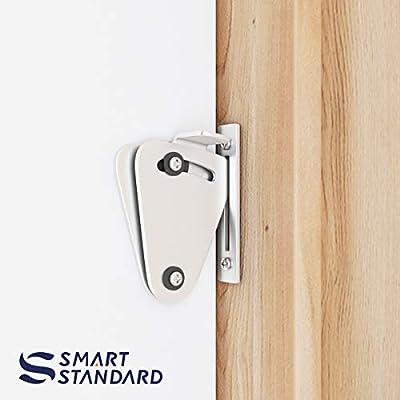 SMARTSTANDARD - Cierre de seguridad para puerta corredera (acero inoxidable, cerradura de privacidad, puerta corredera, puertas de bolsillo, garaje y cobertizo, puertas de cristal): Amazon.es: Bricolaje y herramientas