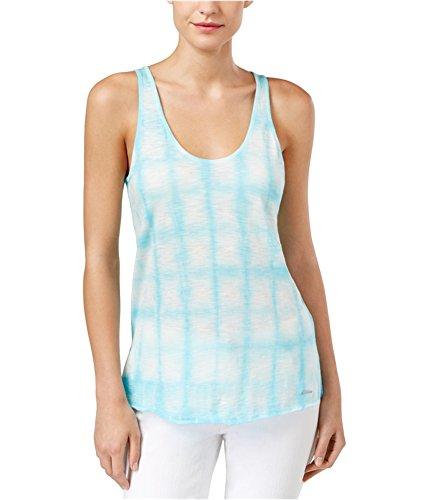 Calvin Klein Womens Tie-Dyed Tank Top angelblue S