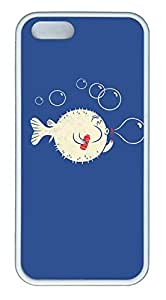 Blowing Bubbles Fish - iPhone 5S Case Funny Lovely Best Cool Customize White Cover