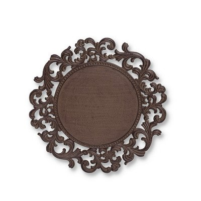 GG Collection Round Metal Charger Plates - Set of 4