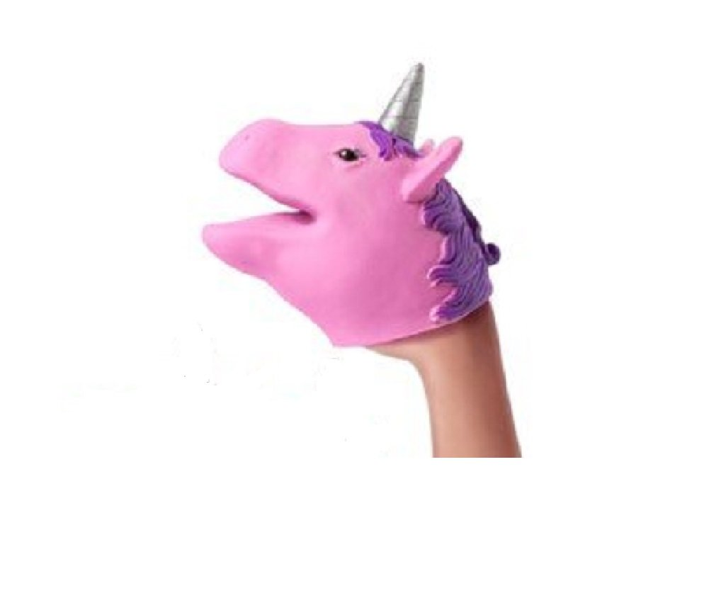 Novelty Treasures Enchanted Set of 3 Unicorn Hand Puppets - Party Favor Supplies 4