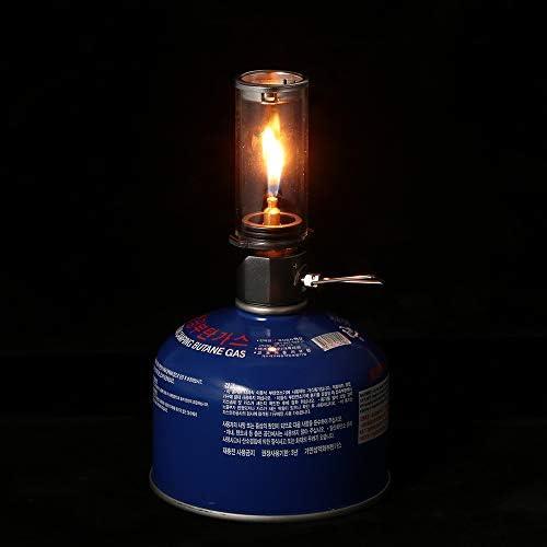 Walmeck Luz de la l/ámpara de la Linterna de Gas al Aire Libre para Acampar al Aire Libre Senderismo de Picnic