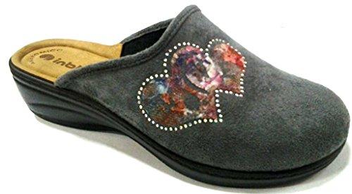 Inblu pantofole ciabatte invernali da donna art. LY-28 grigio