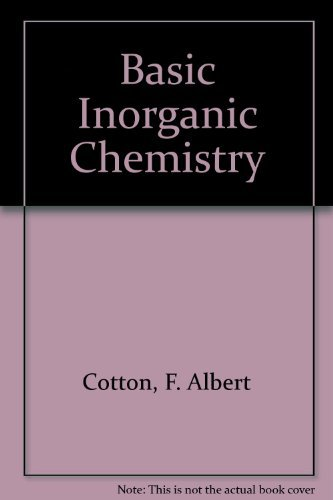 Cotton Basic Inorganic Chemistry
