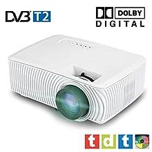 Proyector Full HD 1080P, SEELUMEN 2020 Nuevo PW100-S, maxima luminosidad Portátil Proyectores LED proyector barato LCD con HDMI USB soporte MKV AC3 para PS4, XBOX, Switch, televisión TDT HD