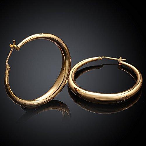 Women 18K Gold Plating Zircon Stud earrings(Rose Gold) - 4