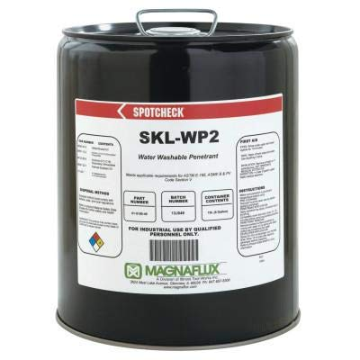 Magnaflux 01-5190-40 Red/Violet Spotcheck SKL-WP2 Water Washable Penetrant, 5 gal Pail: Industrial & Scientific