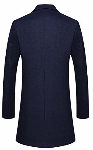 Pisello Monopetto Il Moda Cappotto uk Oggi Lungo Picco Raggiunto Uomini Blu Ha Outwear In Bavero Navy Lana 1qTUqExw