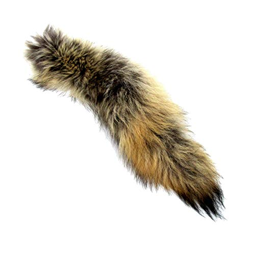 Treasure Gurus Real Coyote Tail Taxidermy Hide Tanned Fur Pelt Car Truck Keyring Purse Charm