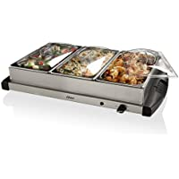 Oster CKSTBSTW00 Large Triple Warming Tray Buffet Server