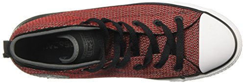 Converse Womens Chuck Taylor All Star Syde Street Maglie Mid Trainer Nero Rosso