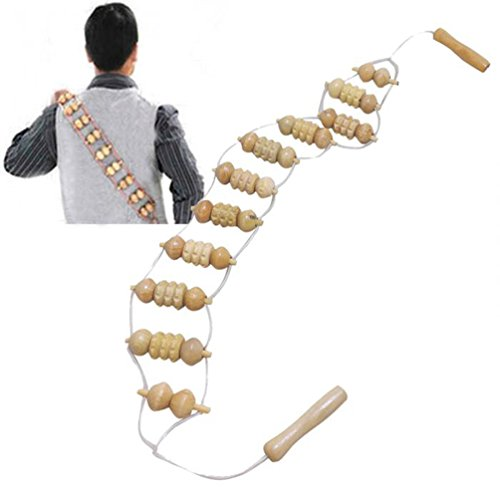Funwill Back Body Wooden Massager Roller Stress Relief Health Care Relax Tool