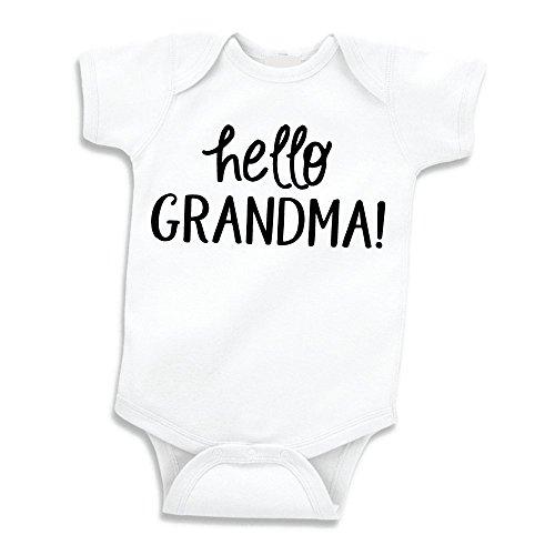Bump and Beyond Designs Surprise Pregnancy Announcement for Grandma, Hello Grandma (0-3 Months)