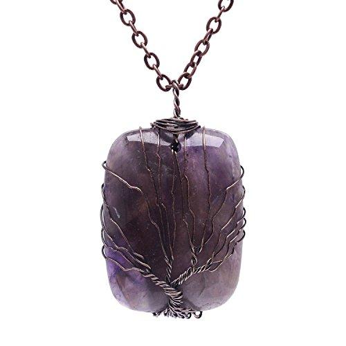 Wrapped Gemstone Pendant Fashion Necklace