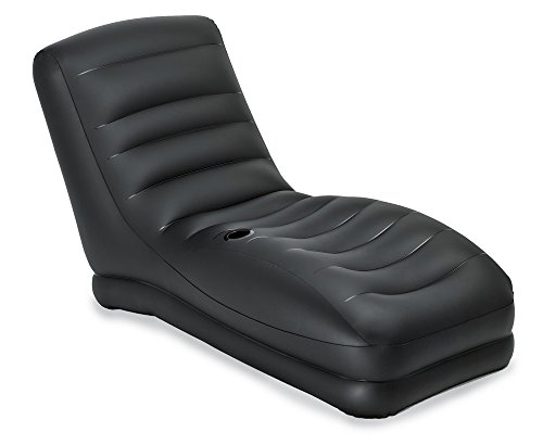 Built In Cup Holders - Intex Inflatable Contoured Mega Lounge With Built-In Cup Holder, Black | 68585EP