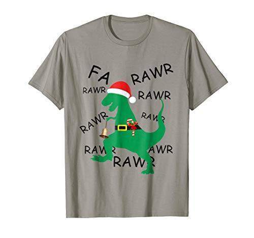 Funny Christmas Dinosaur T Rex Gift Shirt for