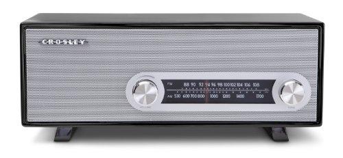 Crosley CR3022A-BK Ranchero Retro AM/FM Tabletop Radio with 3-inch Studio Driver, Black