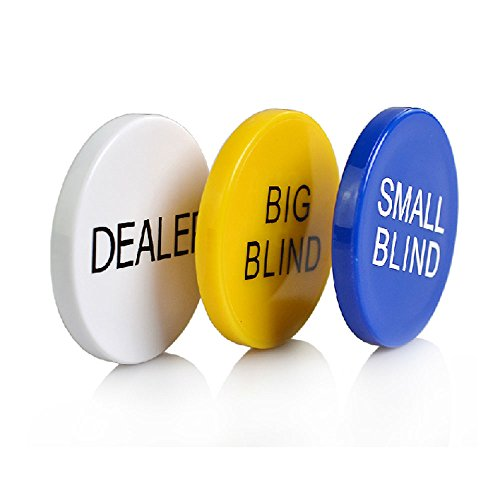 Poker Button (SmartDealsPro 3pcs Small Blind, Big Blind and Dealer Poker Buttons)