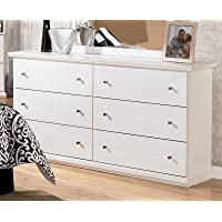 Ashley Furniture Signature Design - Bostwick Shoals Dresser - 6 Drawers - Vintage Casual Cottage Design - White