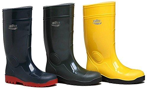 Sicherheitsschuh Stiefel aus PVC, mit Innenfutter aus Trikot Baumwolle. Stahlkappe und Zwischensohle aus Stahl antichiodo, A CE.