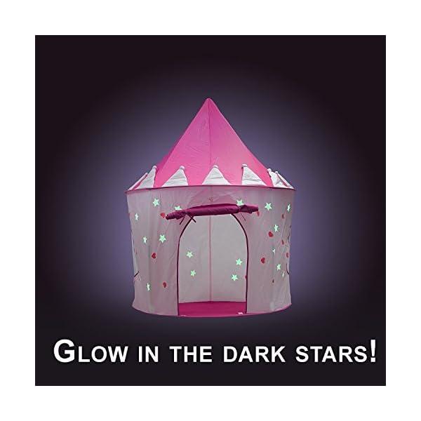 Previous  sc 1 st  bulleboon.com & Cinderella USA Girlu0027s Pink Princess Play Castle Pop Up Tent   Play ...