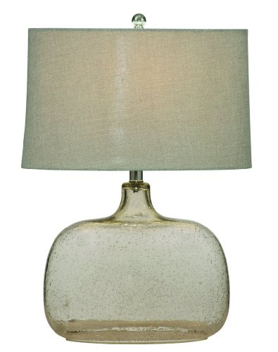 Bassett Mirror Portman Table Lamp, Clear Seeded Glass by Bassett Mirror Company