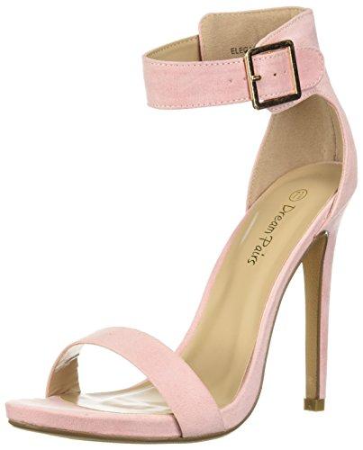 DREAM PAIRS Women's Elegantee Pump, Pink Suede, 10 M US ()