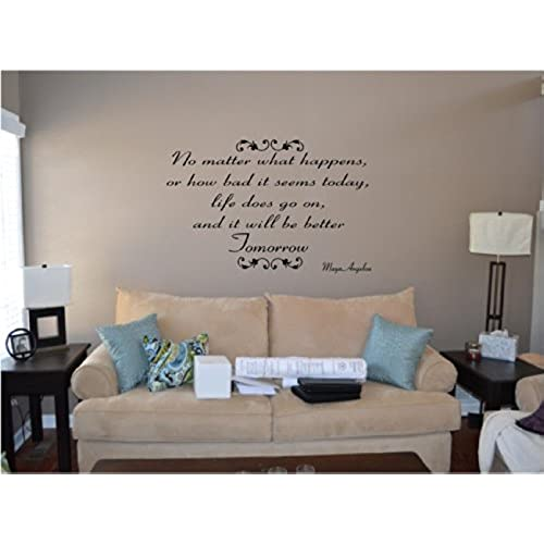 Inspirational Quotes Wall Decals Amazoncom - How to make vinyl wall decals stick better