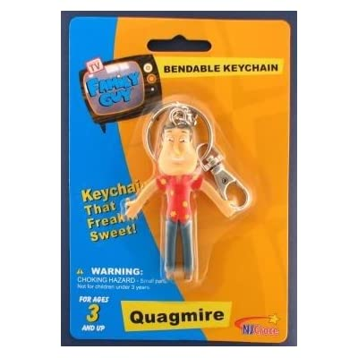 Family Guy Quagmire Bendable Keychain: Toys & Games