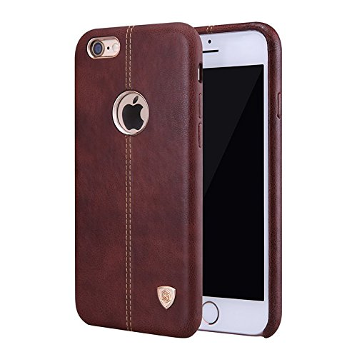 reputable site 1777b ca3d6 Nillkin Englon Leather Back Cover With Micro Fibre Lining for Apple iPhone  6 Plus (Brown)
