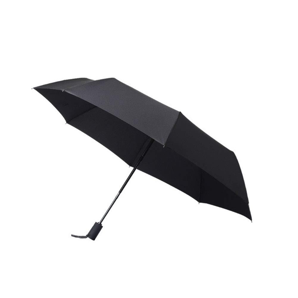 MMTC 防風 トラベル傘 コンパクト 自動開閉 小さな折りたたみ傘 ゴルフバッグ用 バックパック 防風 男女兼用 旅行者 B07MS1S17G ブラック
