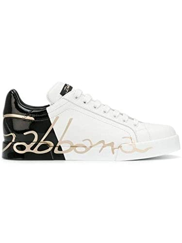 new style 08636 7ce3f DOLCE E GABBANA Damen Ck1600ai053hd821 Weiss Leder Sneakers ...