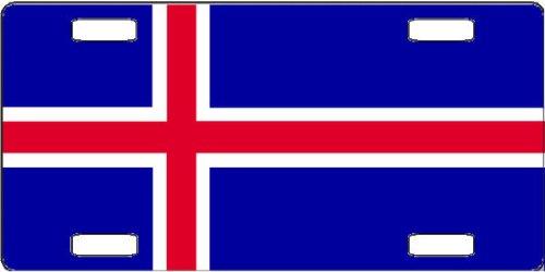 Iceland Flag Vanity License Plate (Icelandic License Plate)