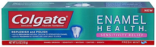 Colgate Enamel Health Sensitivity Relief Toothpaste , 5.5 Ounce (Pack of 6) by Colgate